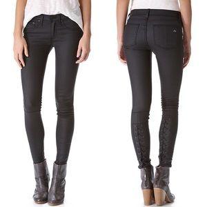 Rag & Bone Devi Shoreditch Coated Black Jeans 28